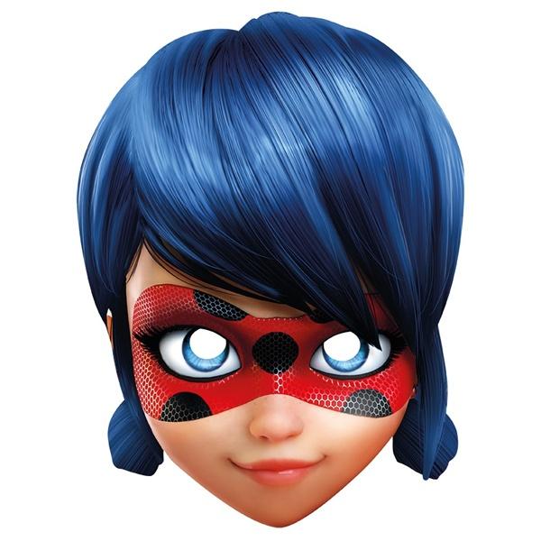 Kostüm-Zubehör Miraculous Ladybug Card Mask