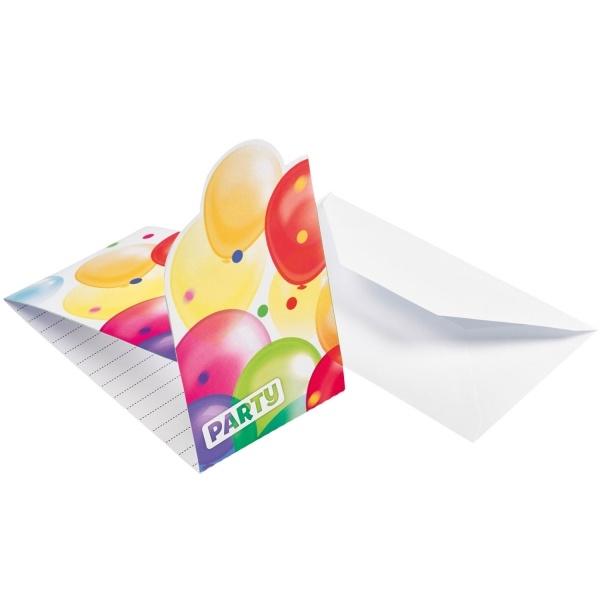 Einladungskarten Ballons
