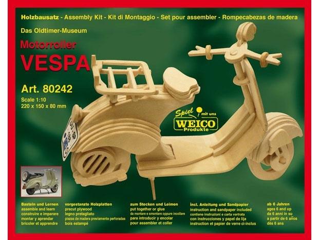 Vespa Roller Holzbausatz - Oldtimer