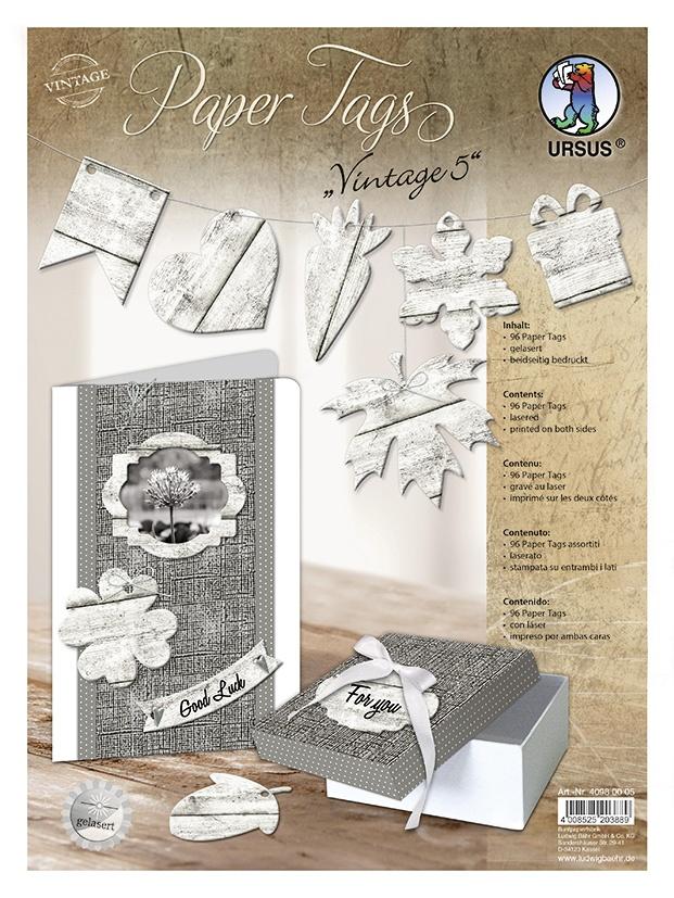 Bastelmappe Paper Tags Vintage 5