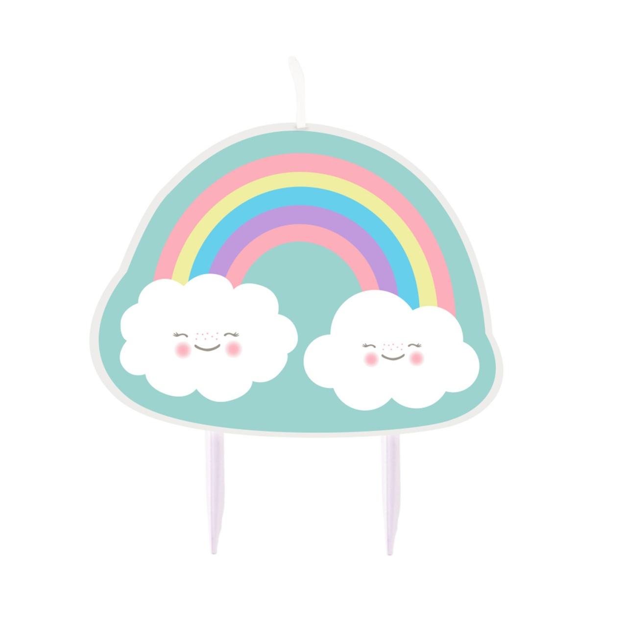 Figurenkerze Regenbogen und Wolke
