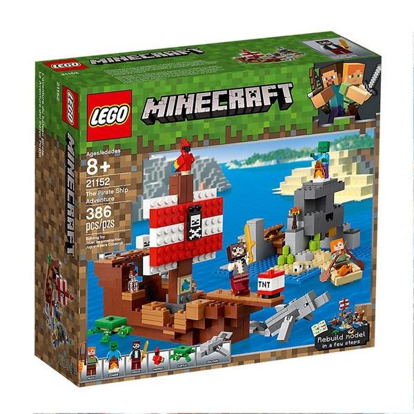 Lego Minecraft 21152 Daas Piratenschiff-Abenteuer