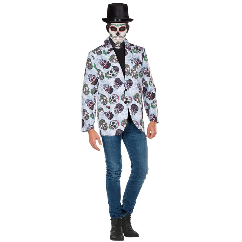 Kostüm Skull-Jacke 54