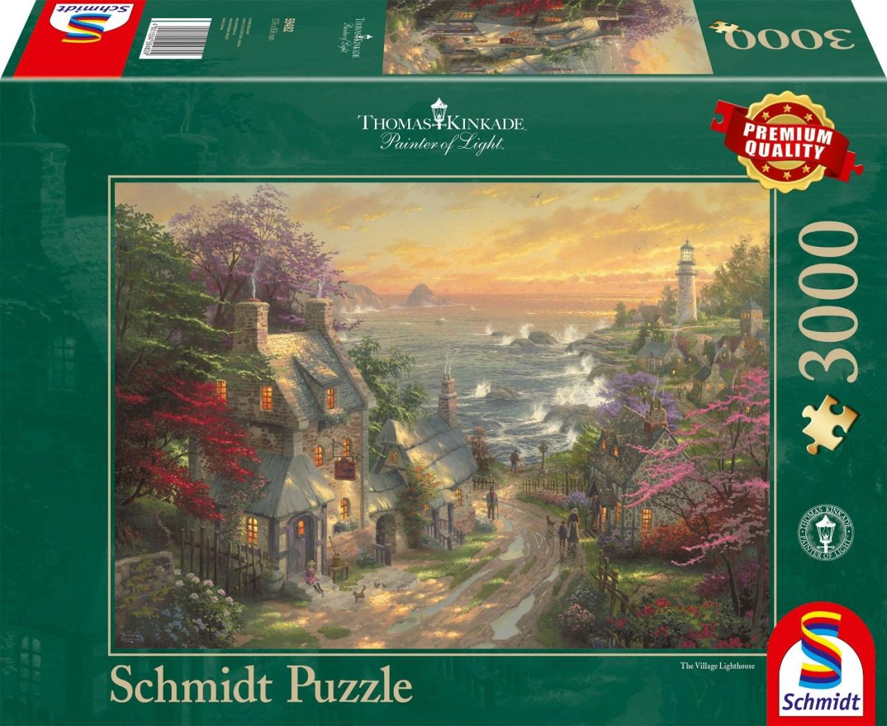 Schmidt Spiele Puzzle Thomas Kinkade Dörfchen am Leuchtturm