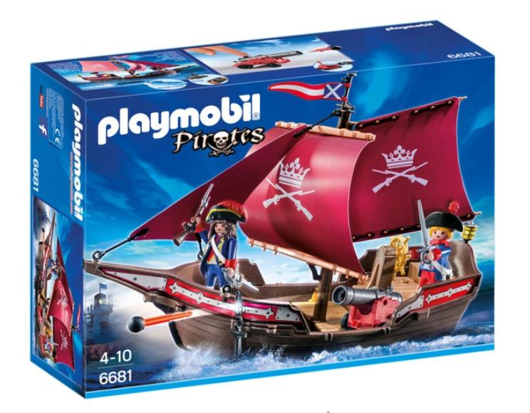 Playmobil 6681 Pirates Soldaten-Kanonensegler