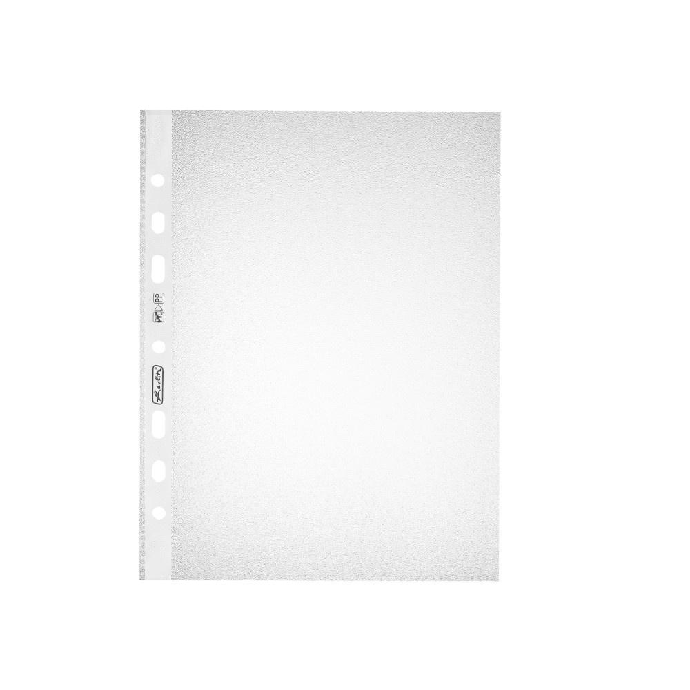Herlitz Prospekthüllen A5 Standard genarbt 100 Stück Packung