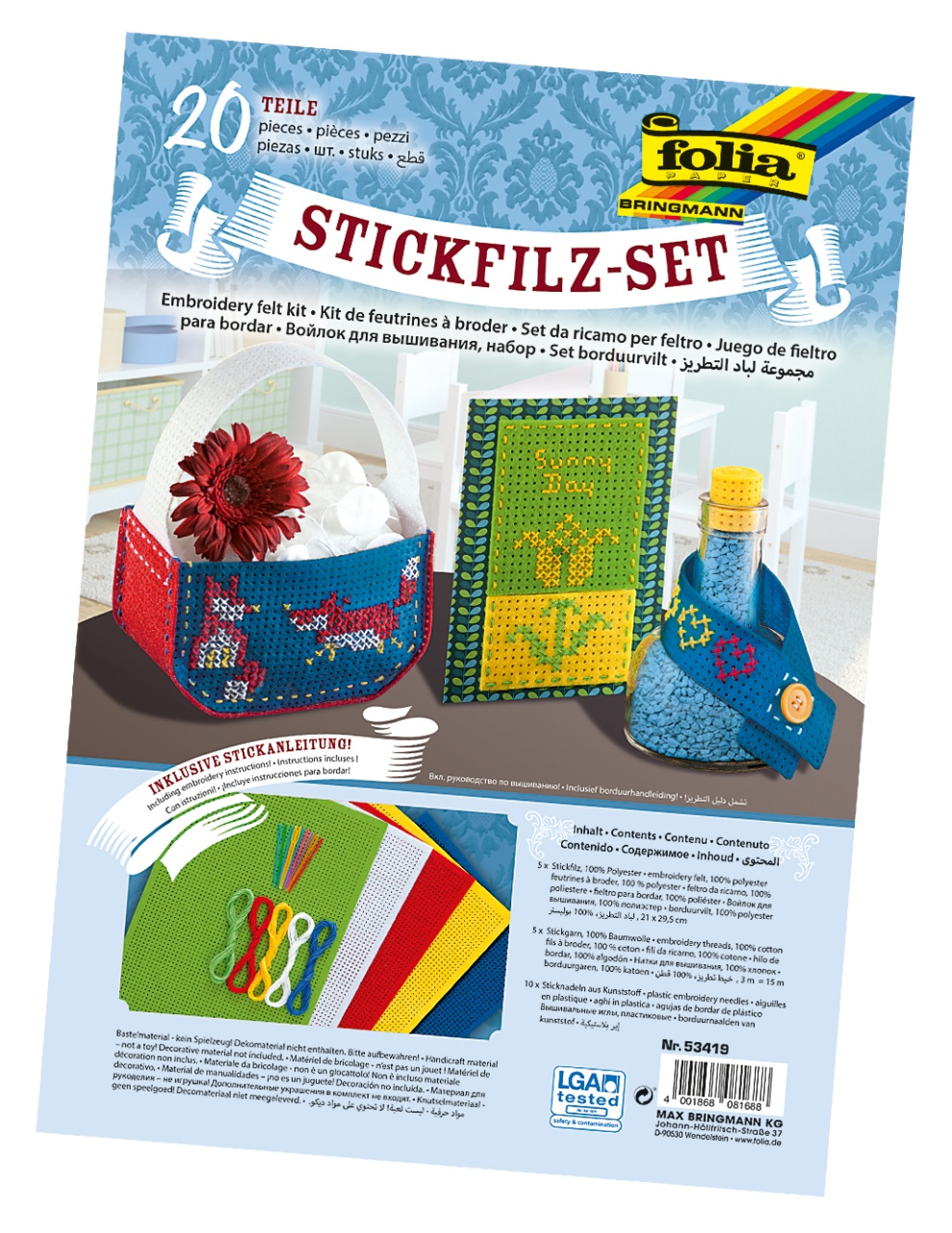 Folia Stickfilz-Set