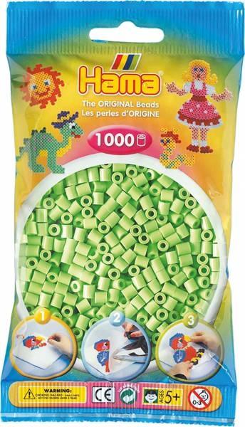 Hama Bügelperlen 1000 Stück pastell-grün