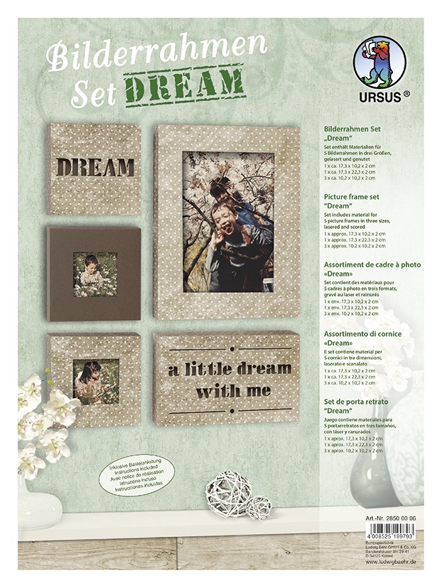 Bastelmappe Bilderrahmen Set DREAM