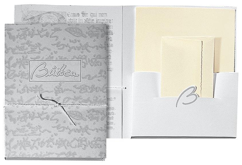 Briefpapier Briefmappe Bütten 15/15 DIN lang  chamois