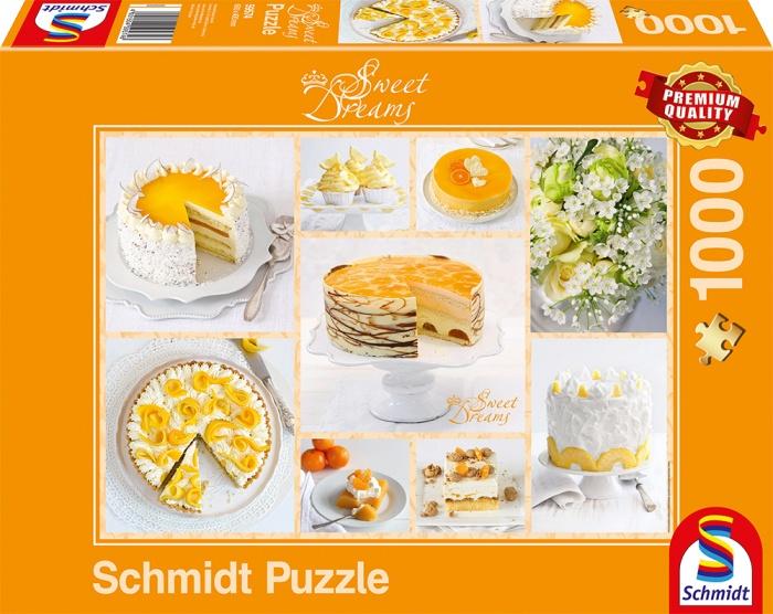 Schmidt Spiele Puzzle Strahlend gelbe Kaffeetafel 1000 Teile