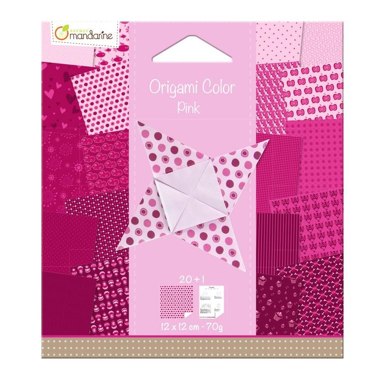 Avenue Mandarine Origami Papier Urban 12 x12 cm pink