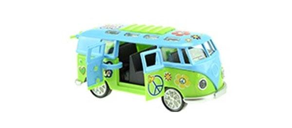 VW Bully blau grün von Welly