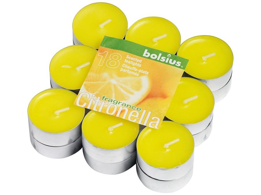 Bolsius Duft-Teelichter Citronella 18 Stück