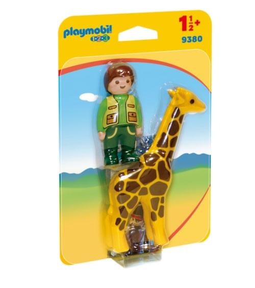 Playmobil 9380 1.2.3 Tierpfleger mit Giraffe