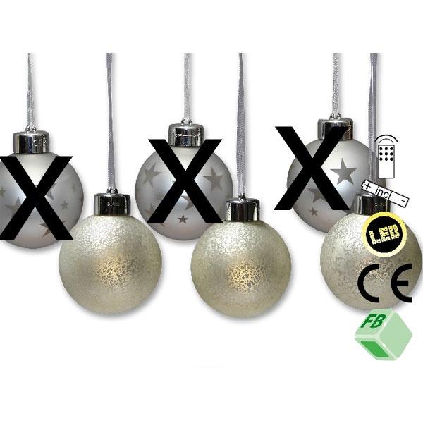 3 LED Baumkugeln marmoriert
