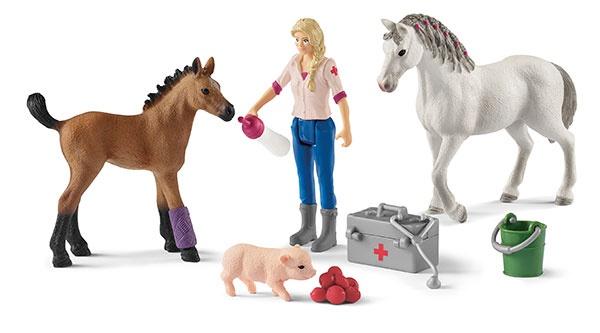 Schleich Farm World Arztbesuch bei Stute und Fohlen 42486