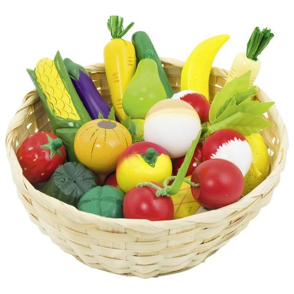 Obst- und Gemüse in Korb