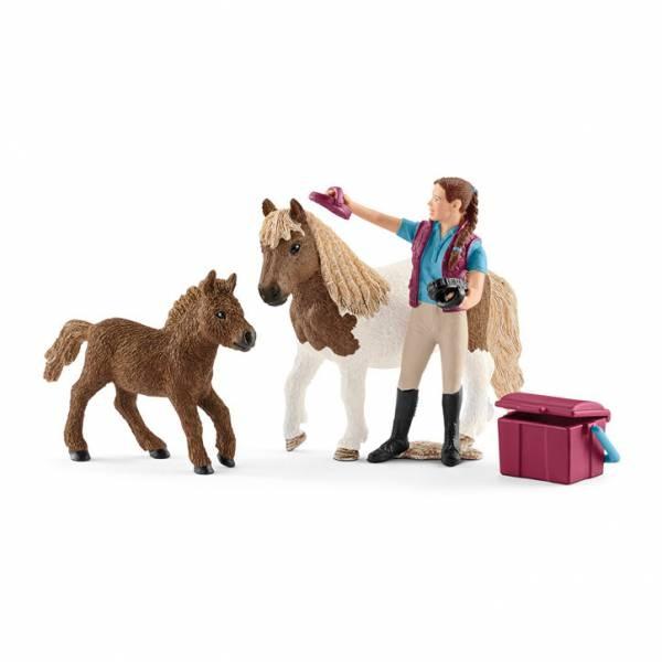 Schleich Horse Club Pferdepflegerin mit Shettys