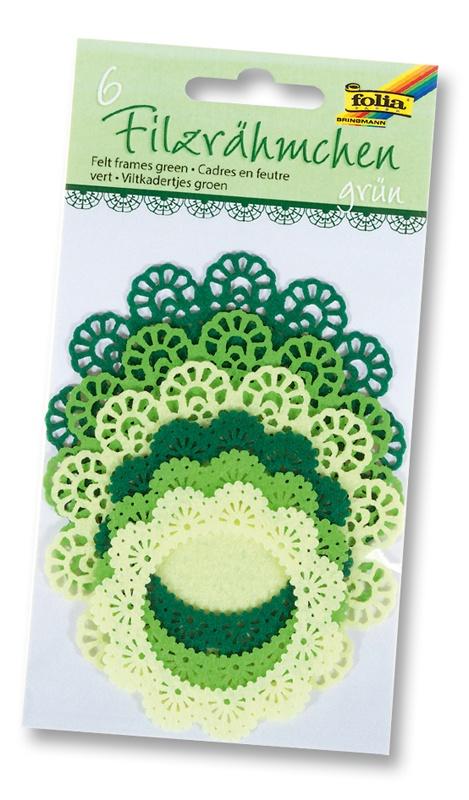 Folia Filzrähmchen Ton in Ton grün
