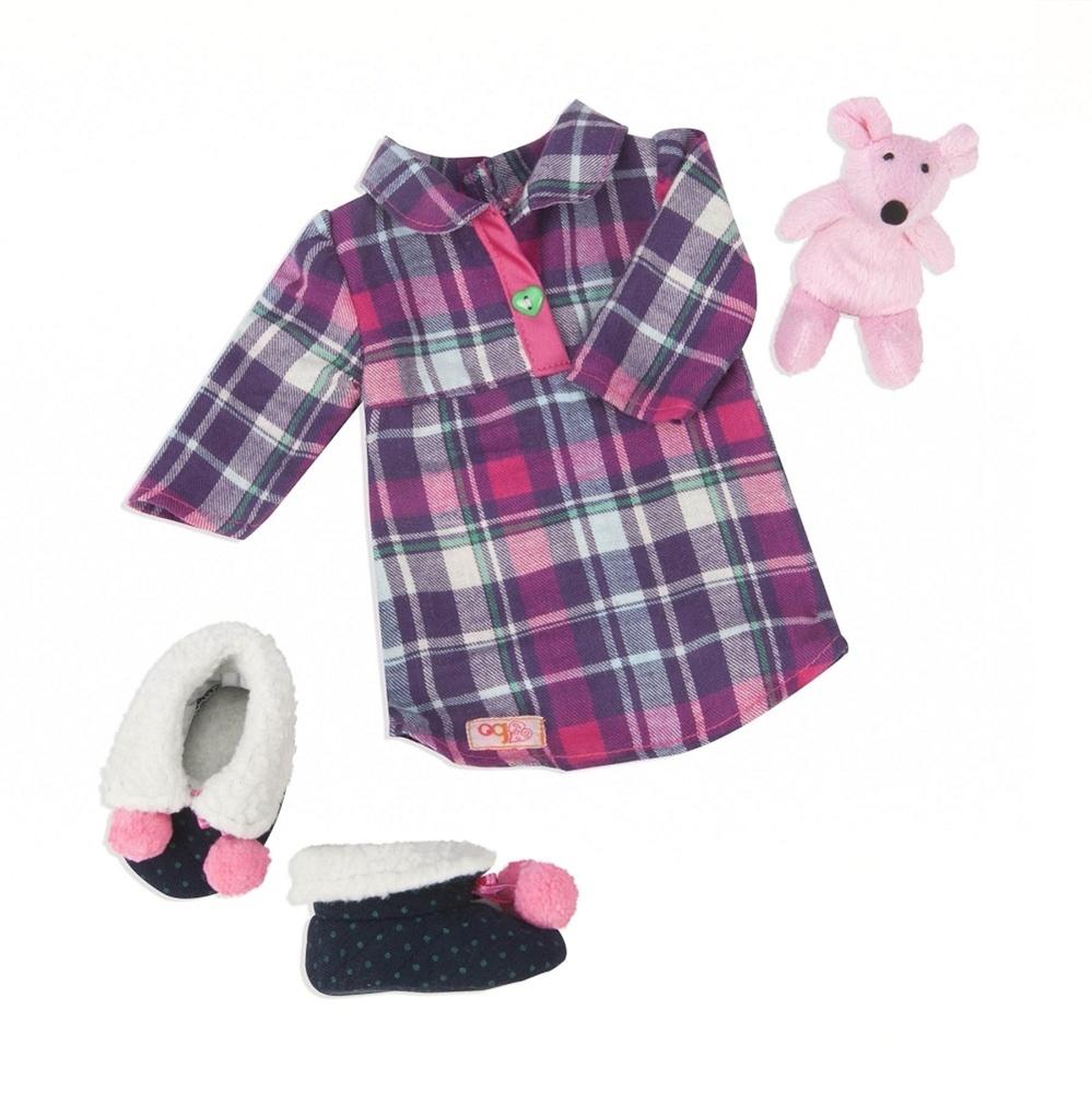 Puppenkleidung Nachthemd Set