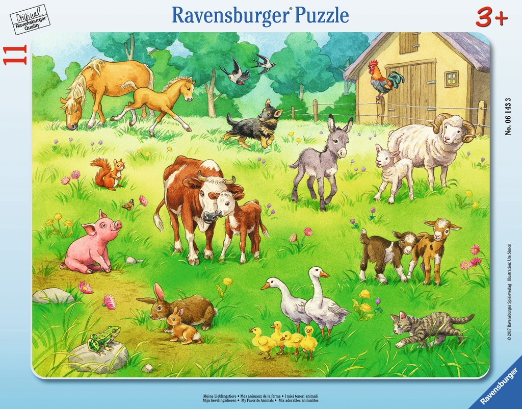 Ravensburger Rahmen-Puzzle Meine Lieblingstiere