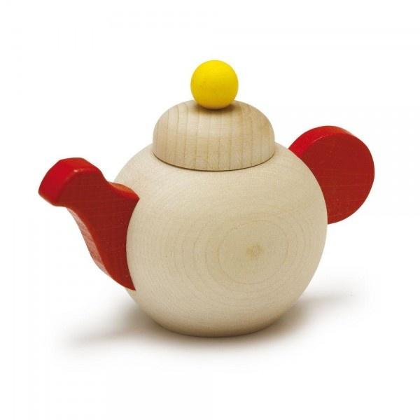 Erzi  Puppengeschirr Teekanne aus Holz