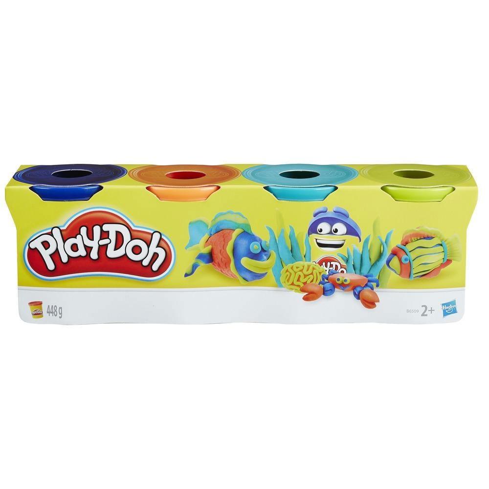 Play-Doh 4er Pack Knete Dunkle Farben