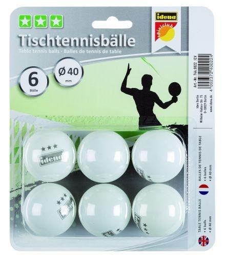 Idena Tischtennisbälle 3 Stern 6 Stück