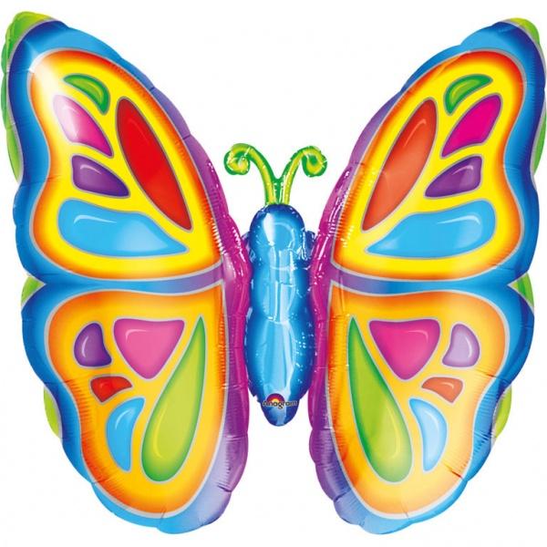Folienballon Strahlender Schmetterling  63 x 63 cm