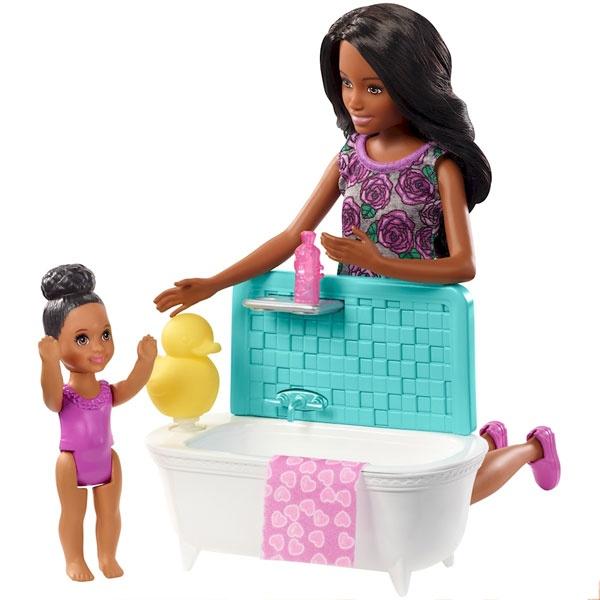 Barbie Skipper Babysitter Puppen Spielset dunkle Hautfarbe
