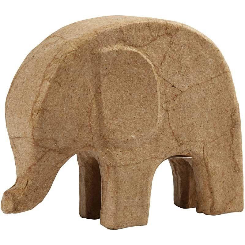 Pappmaché Elefant 14 x 17 cm