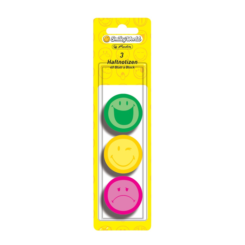 Haftnotizblock 44mm, 3er, Smileyworld