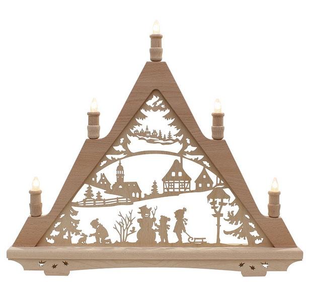 Schwibbogen Winterfiguren 57 cm Made in Germany