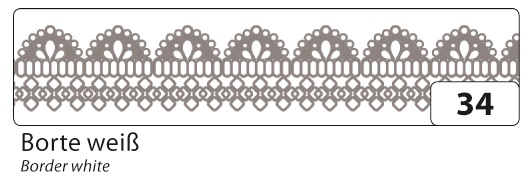 Folia Washi Tape Klebeband Borte weiss