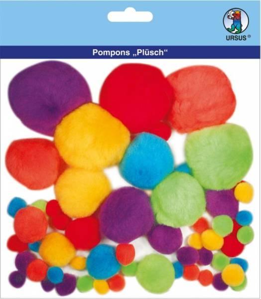 Pompons Plüsch Sortierung 2