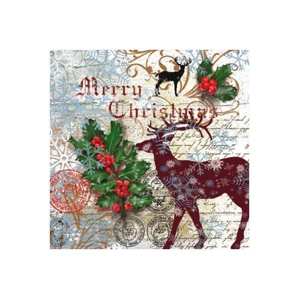 Servietten Weihnachten Santa Claus Postage
