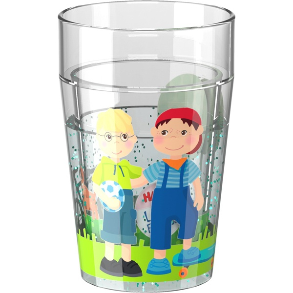 Haba 303423 Glitzerbecher Little Friends Freundschaft