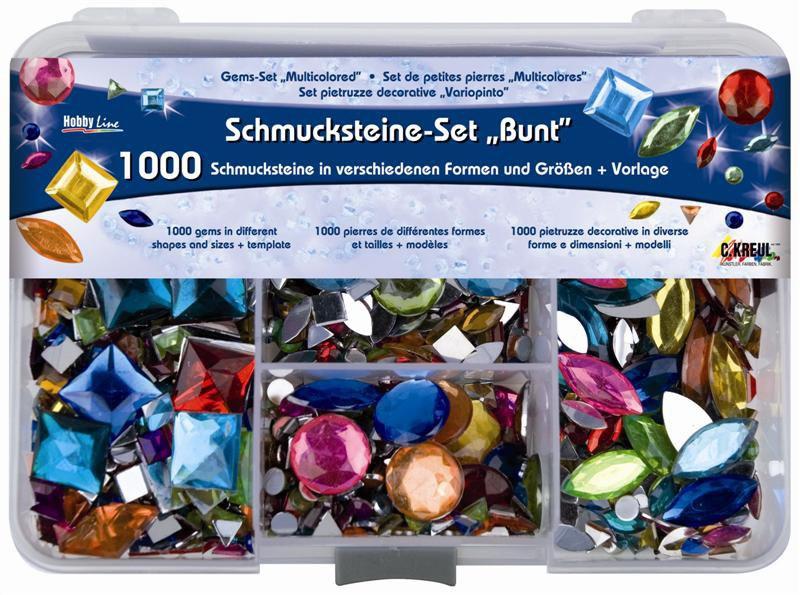 Hobby Line Schmucksteine-Set Bunt
