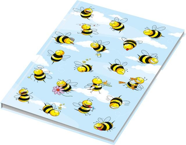 Kladde A4 blanko Crazy Bees