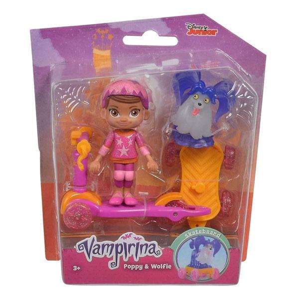 Vampirina Figurenset Poppy und Wolfie mit Roller