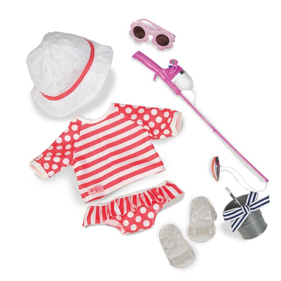Puppenkleidung Angler-Set