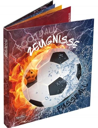 Zeugnismappe Fußball mit Register&Prospekthüllen