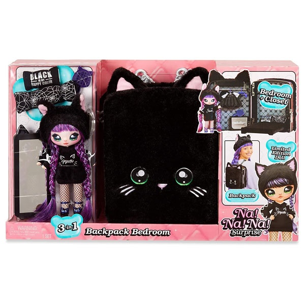 Na!Na!Na! Surprise Backpack Bedroom Black