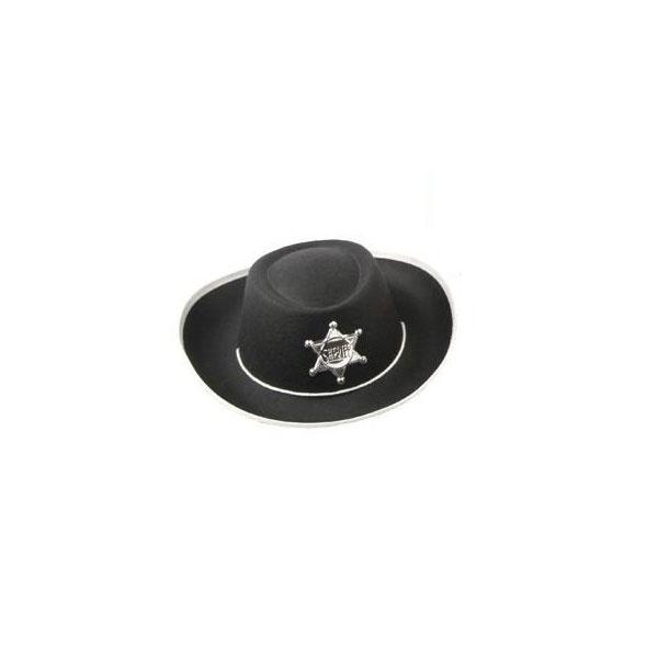 Kostüm-Zubehör Cowboyhut schwarz 54