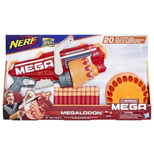 NERF Megalodon Nerf N-Strike Mega Blaster mit 20 Nerf Darts