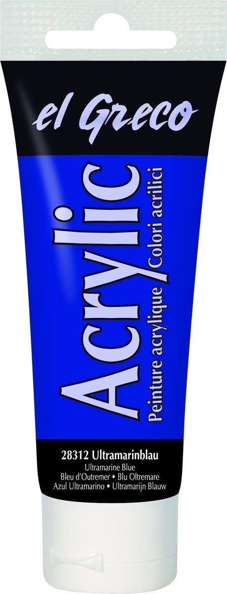 El greco Acrylic Acrylfarbe Ultramarinblau 75 ml