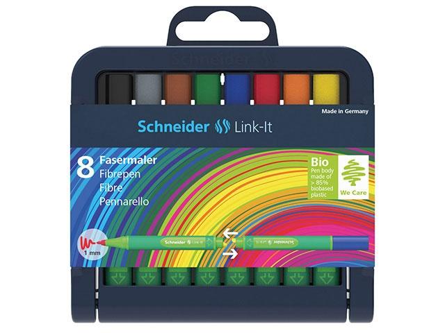 Schneider Fasermaler 8 Farben 1mm