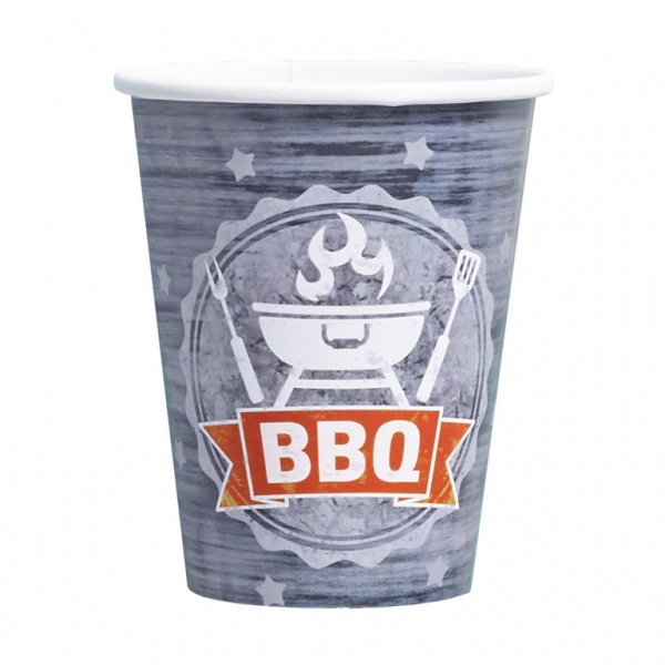 BBQ Partybecher 250ml 8 Stück