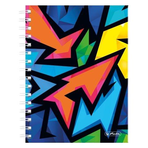 Herlitz Spiralboutiquebuch A5 Neon Art